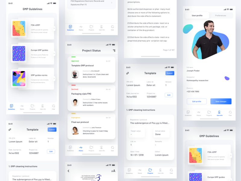 Documentation app screens statusbar guidelines userprofile group task sharma neel prakhar navigation tabbar ui  ux design graient pattern lab experiment design dailyui screens app documentation