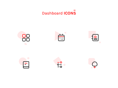 Dashboard icons settings uidesign ui  ux design dashboard ui dashboard design sharma neel prakhar bell notification contact square monitor calendar note book logo icon app icon dashboard