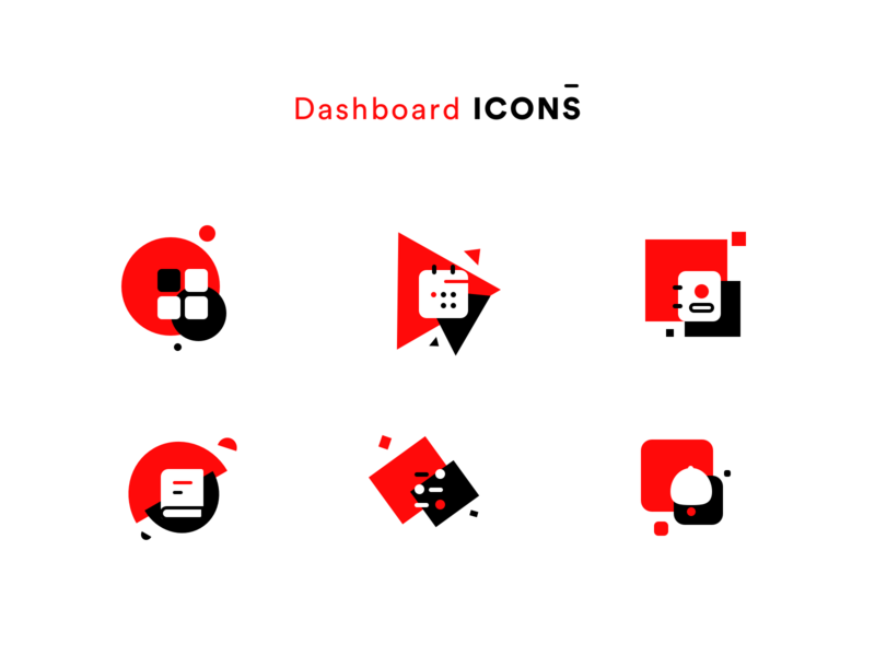 Dashboard icons ver.2 bell cab booking calendar contacts kit icons pack icons set icons stroke fill red and black red sharma neel prakhar digital dashboard design ui  ux dashboard ui dashboard