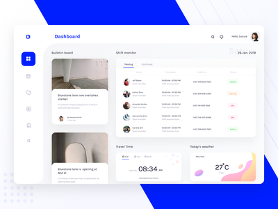 Dashboard for schedule and monitoring platform (version 2) book contact ui  ux ui design sharma neel prakhar user search dashboard design responsive android ios mobile web dashboard app monitor schedule dashboard