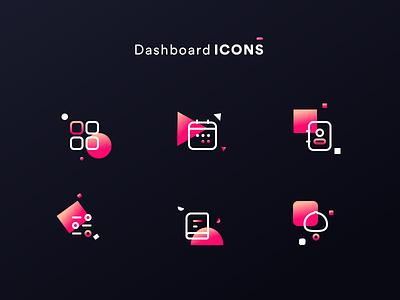 dashboard icons ver. 3 sharma neel prakhar notebook setting profile person contact time calendar sidemenu menu android ios ux ui app icons night dashboard
