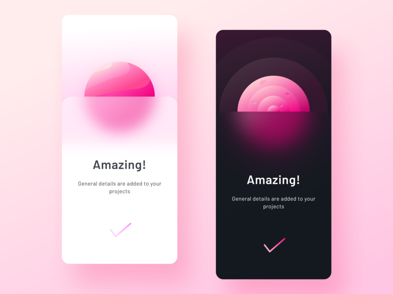 Success modal for documentation app illustration share user modal box uidesign ui ux designer ui sharma neel prakhar night mode night day light dark gradient planet over pop modal