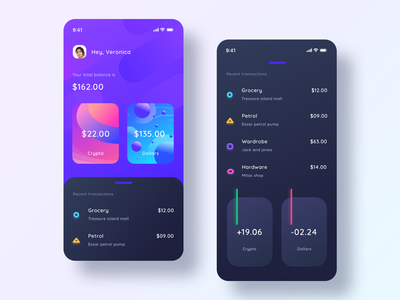 Cryptocurrency app mockup darkmode statusbar usd dollars shopping grocery web sharma neel prakhar android ios user currency cryptocurrency amount blockchain cryptocurrency link blockchain crypto
