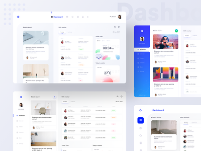 Dashboards collection for schedule and monitoring platform sharma neel prakhar contact ticket add clock preferences settings notification message search monitor schedule calendar kit design ui  ux kit ui kit dashboard