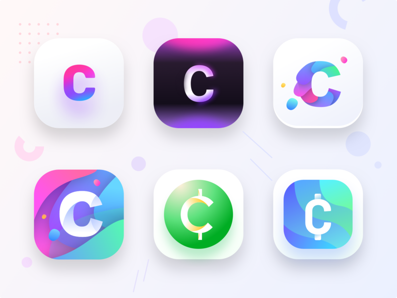 Cryptocurrency app icons prototypes illustration color ux web mode dark sharma neel prakhar inspiration logo design symbol icon money app inspiration ui  ux design ui  ux ui fund cash money crypto currency crypto