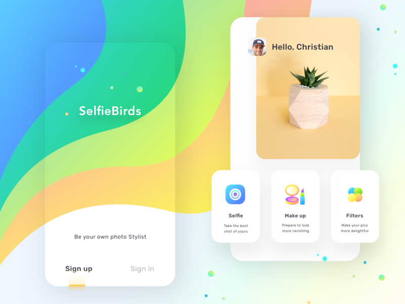 App for photo beautification (Source) signup selfie makeup filters photoshop image editing image user iphonex ios splash screen login splash sharma neel prakhar ux web ui app  design app apps application