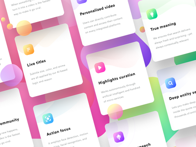 Feature cards (source) sketch vector illustration cards design play mp3 player sharma neel prakhar website speak mic search idea title gif mp4 videos cards feature
