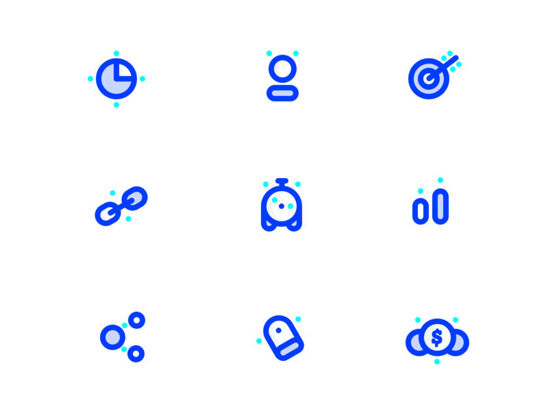 SEO icons part-1 (source) cash money sharma neel prakhar badge network battery connect share link target users piechart search logo sketch source icons seo