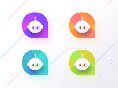 Chat Bots (Source PSD) technology icons eyes robot elements futuristic future technology uidesign interface chat app uc ui sharma neel prakhar source photoshop chatbot logo chat