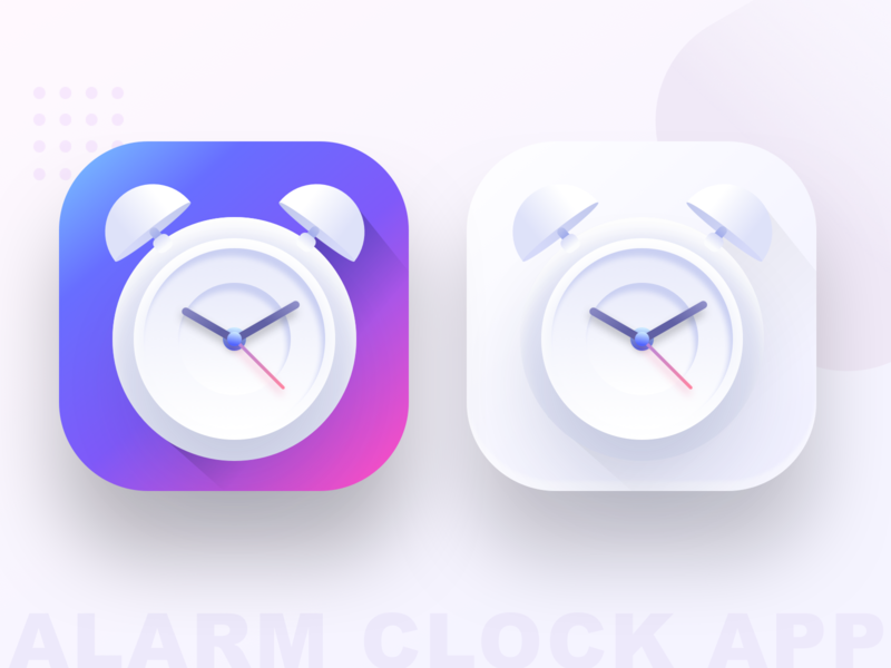 Alarm clock app icon (SOURCE) vector illustration ui morning share people time apple google android ios sharma neel prakhar sketch source icon alarm app alarm clock alarm