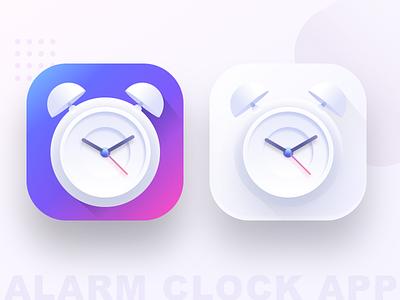 Alarm clock app icon (SOURCE) vector illustration ui morning share people time apple google android ios sharma neel prakhar sketch source icon alarm app alarm clock alarm