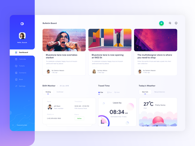 Dashboard for schedule and monitoring platform (version 8) dashboard web dashboard ui uiux uidesign profile cards add search notifications weather time schedule management prakhar neel sharma monitor calendar settings