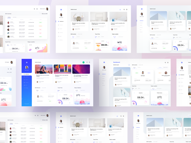 Dashboards collection for schedule and monitoring (All versions) event schedule monitoring places system management menu card time weather users menu sharma neel prakhar kit website web dashboard ui collection dashboard