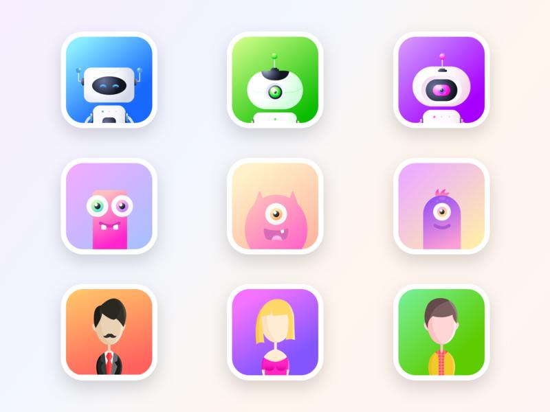 User profile avatars for a blockchain related platform