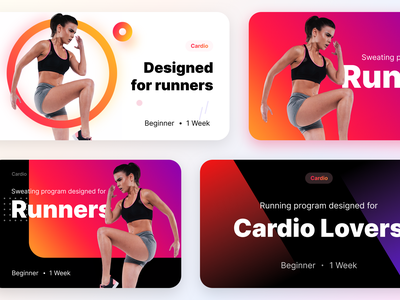 Unused banners prototype for a fitness product part-3 diet nutritionmuscle equipment bodybuilder healthyfood protein healthy lifestyle workout healthy sharma neel prakhar wellness cardio running boxing sports gym illustration icon