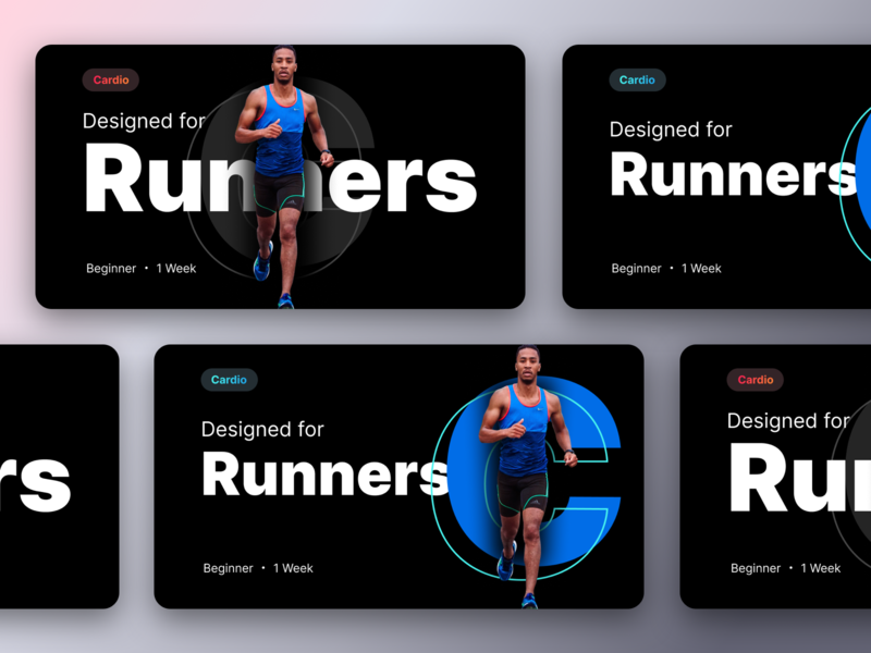 Unused banners prototype for a fitness product part-4 banners gymnasium month week time apple share ios application walk cardio running heart health gym appstore web sharma neel prakhar