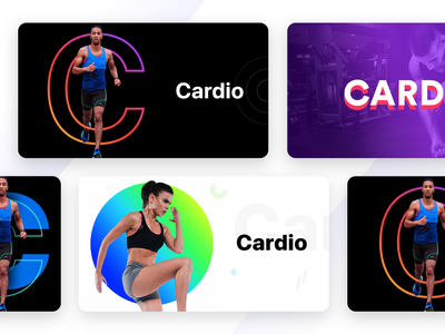Unused banners prototype for a fitness product part-5 banner design games sports pattern cards colours neon white dark fitness jogging running health cardio web sharma neel prakhar digital banners