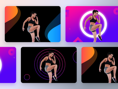 Unused banners prototype for a fitness product part-6 data ux trending gradients fitness club black design gym app cardio body physiotherapy exercise gym health fitness app ui neel sharma prakhar