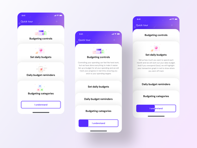 Onboarding/Quick tour for budget module (version 1) iphone trending cards mobileapplicationdevelopment mobileapp home budget tour onboarding sketch vector design icon search illustration ui app neel sharma prakhar
