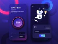 AI trading platform screen ( Dark taste)