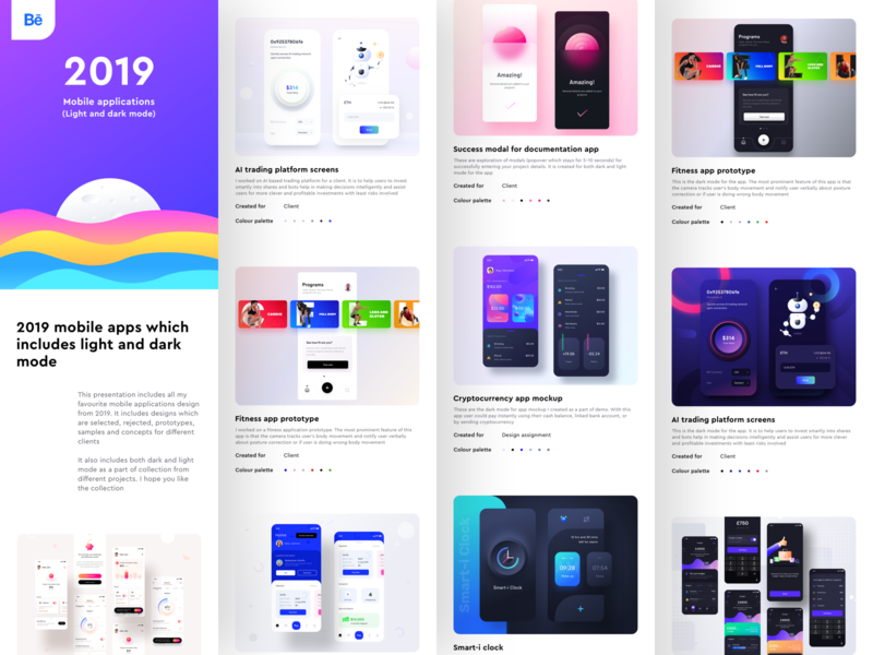 2019 Best mobile apps presentation on Behance mobile application design ai vr product design digital design user interface experience ui ux design clean minimal trending 2019 google apple ios android mobile ui sharma neel prakhar
