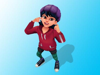 Kid teen character design maya 3d