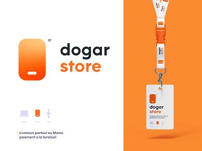 Dogar store orange logo apple ios gold ux website ocean logo phone logos logodesign logotype typography web uiux design orange logo design logo