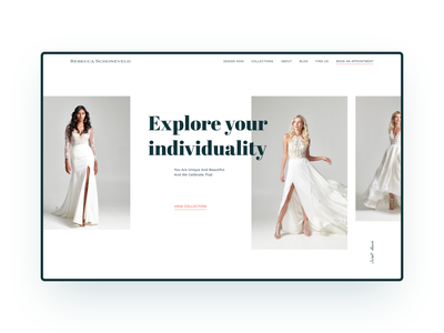 Rebecca Schoneveld's website ecommerce design design ux ui