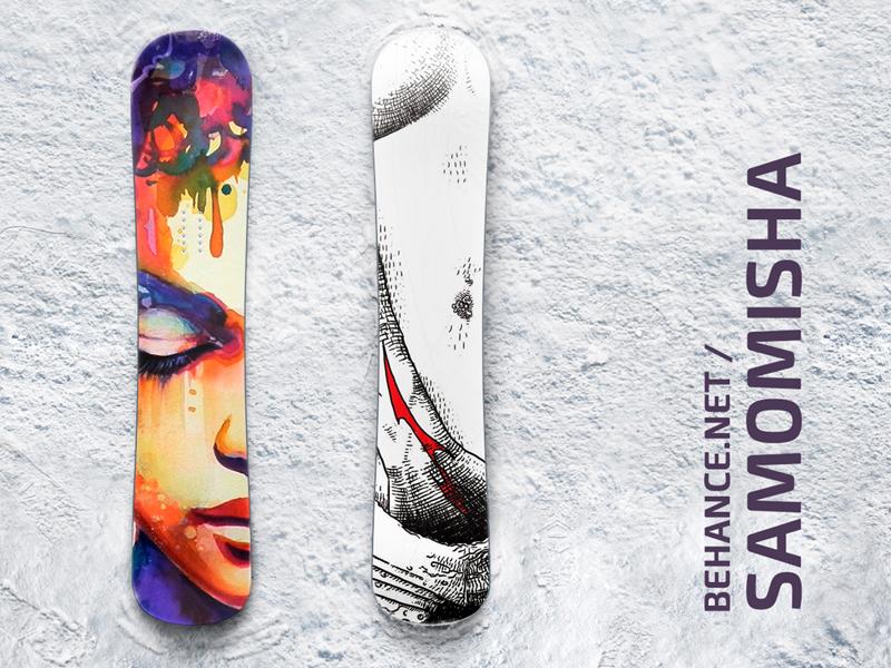Snowboard Mockup for Free extreme snowboarding snowboard staff identity mock-up mockup free branding display mockups