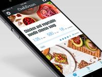 Recipe app - feed