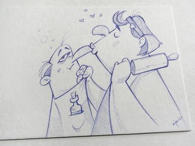 Love ♥️ valentine day valentine love sketchbook pen sketch illustration drawing spovv characterdesign fun character