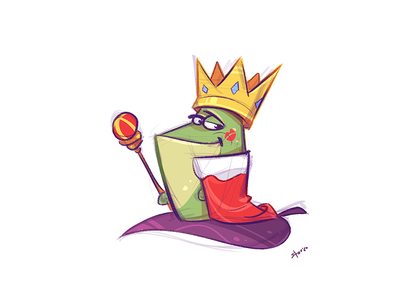 The King game coloring cartoon fun illustration spovv characterdesign character happyness love happy king frog