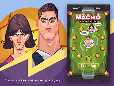 Macho & Golden Balls ronaldo messi sport game football game soccer football avatar cartoon spovv fun character