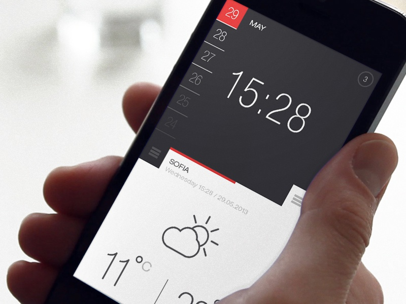 Weather and Time ui weather time app