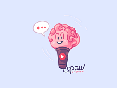 Let's Talk chat talk microphone brian dribbble interview coloring cartoon spovv illustration characterdesign fun character