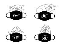 😷 Logo Monster Mask