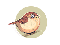 Little Sparrow sparrow coloring cartoon drawing illustration spovv characterdesign fun character