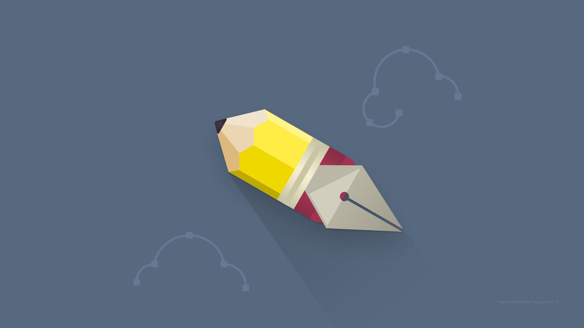 Vector rocket icon 1920x1080px