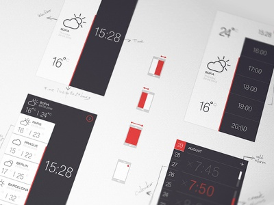 Weather and Time2 (PSD) freebies weather time app ui free psd