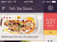 Recipe app pixels