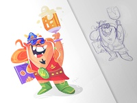 Cheers! beer viking coloring sketch process cartoon drawing illustration spovv characterdesign fun character
