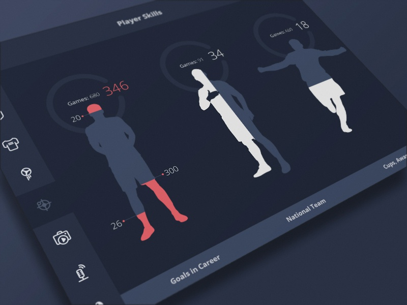 FIFA Legend fifa legend teams player ui football statistic interface soccer players app search