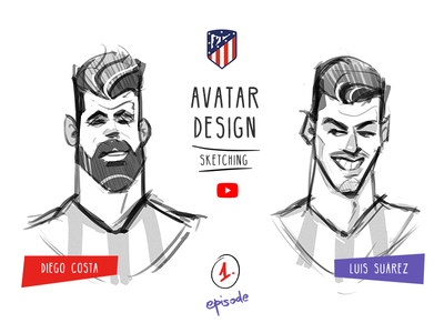Two crazy players! soccer players football atletico madrid video process spovv avatardesign avatar