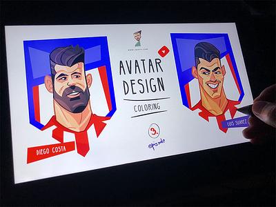 Avatar Design socceravatars footballavatars soccer atleticomadriid football avatar design avatardesign avatar coloring drawing illustration spovv characterdesign fun character