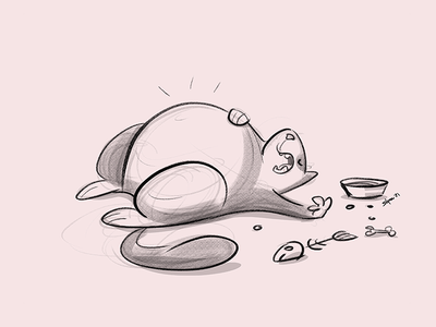 After long holidays cat process sketch cartoon drawing illustration spovv characterdesign fun character