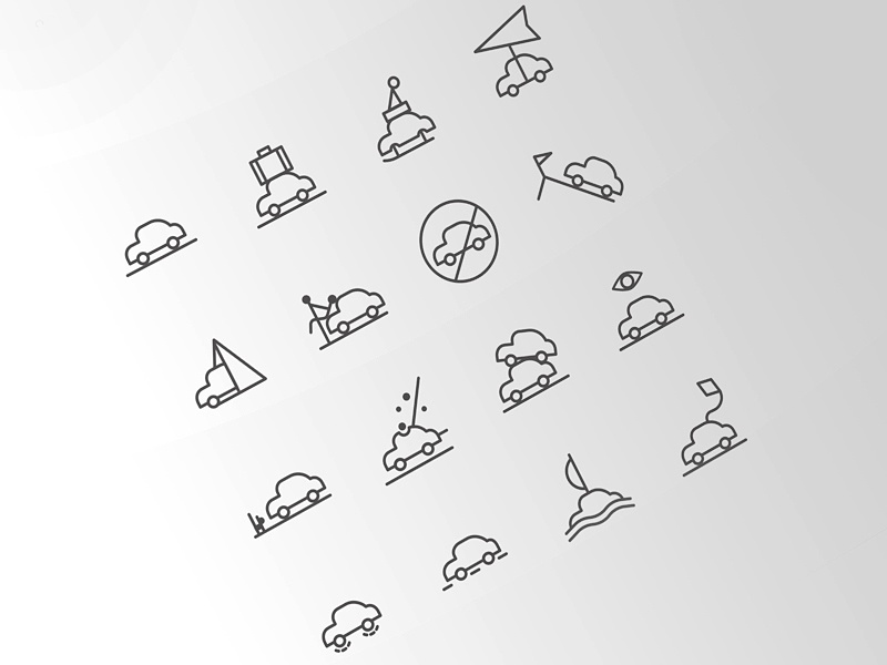 Free Icons for the Weather Situations situations vector psd freebies shape weather icons free icons app time weather car