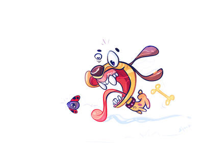 Spring Game play game friends dog process sketch cartoon illustration spovv characterdesign fun character spring