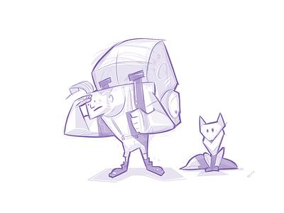 Explore friends adventure explore fox cartoon sketchbook process sketch drawing illustration spovv characterdesign character