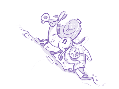 Explore stubborn top friends donkey explore sketchbook sketch cartoon illustration spovv characterdesign fun character