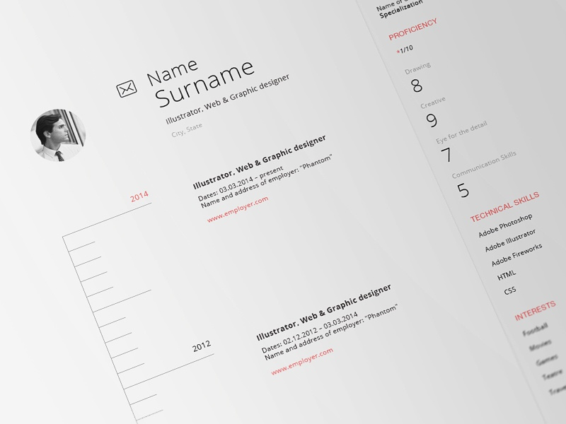 Web CV cv template resume webpage web clean simple